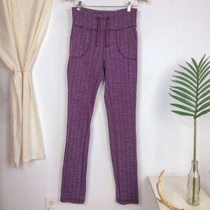 lululemon Skinny Will Pants in Textured Ziggy Plum